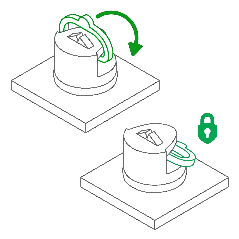 Instrukcja Jak przyssać ostrzałkę do blatu