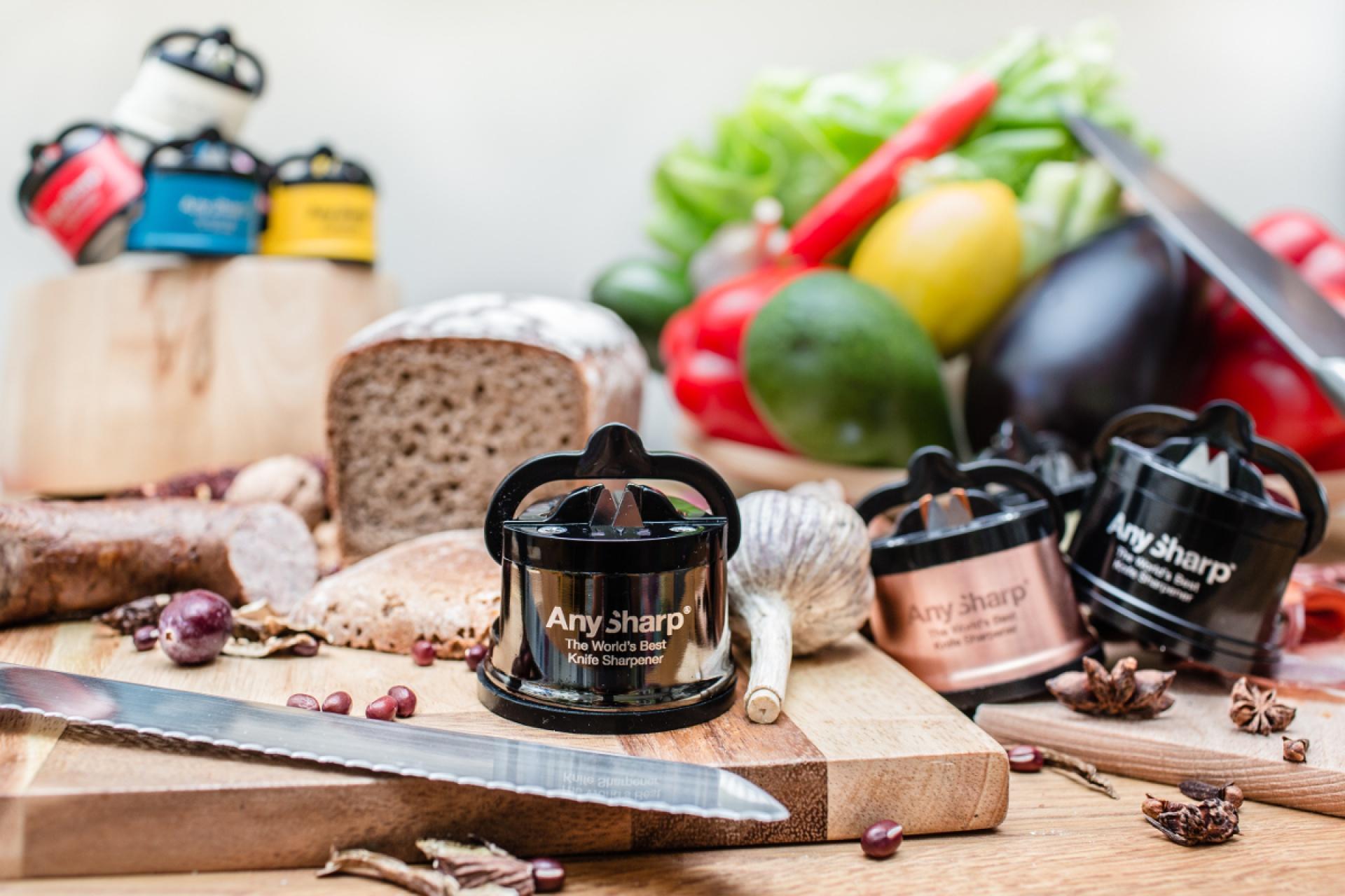 Ostrzałka AnySharp® PRO Chef w kuchni