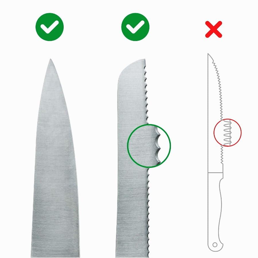 Instrukcja które noże wolno ostrzyć